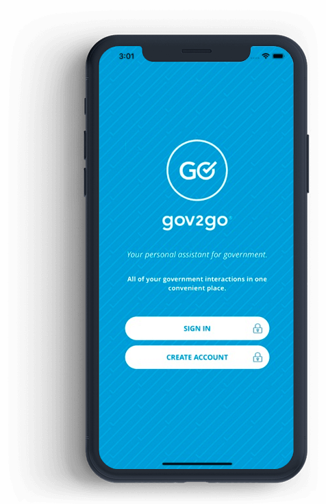 Gov2Go on smartphone